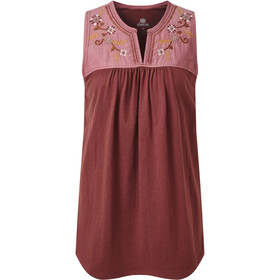 Sherpa Shaanti Embroidery Top Women, ganden red